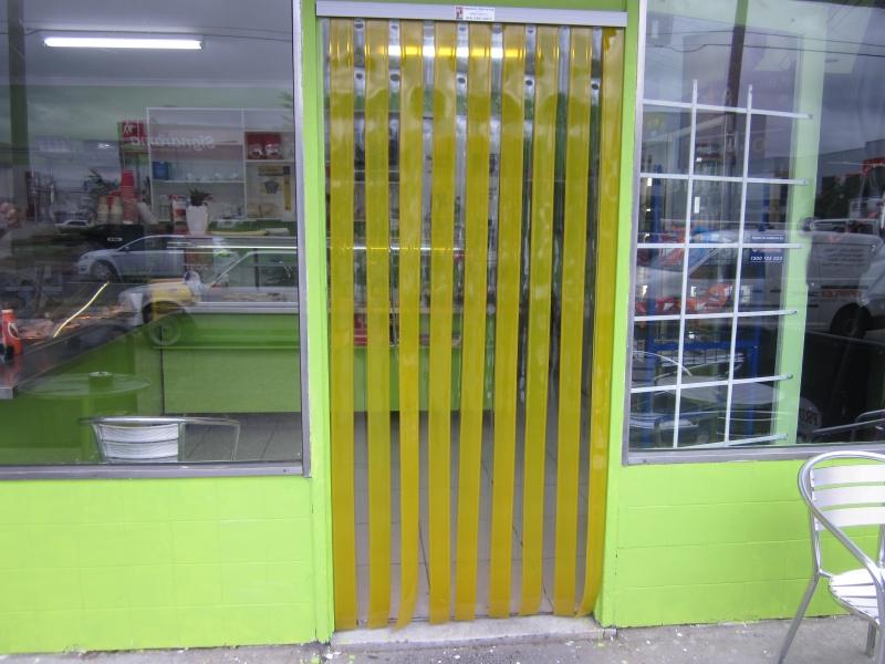 PremFLEX Shop Curtain Yellow And Smoke